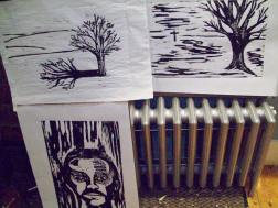 Prints during the revision process